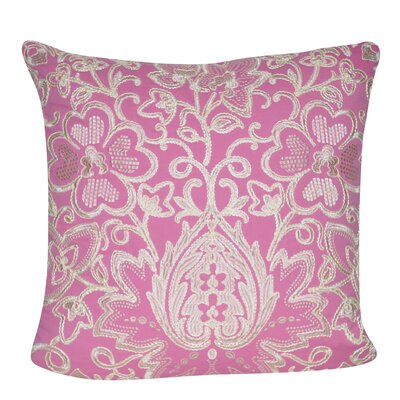 Paisley Flower Throw Pillow Color: Pink