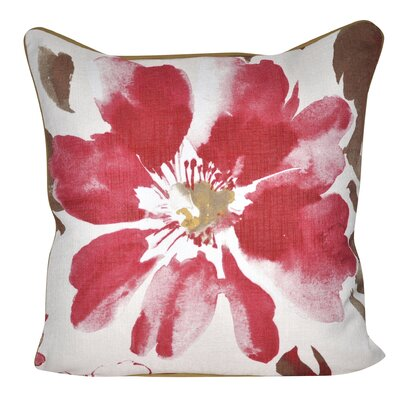 Super Flower Throw Pillow Color: Red
