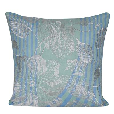 Linear Flower Throw Pillow Color: Blue