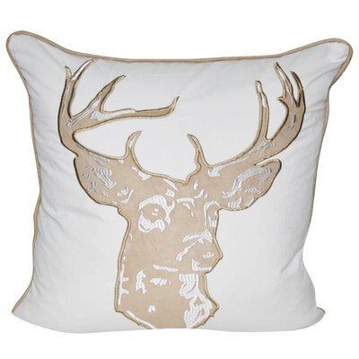 Stag Throw Pillow Color: Tan