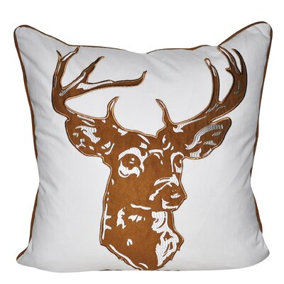 Stag Throw Pillow Color: Brown