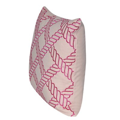 Ropes Throw Pillow Color: Pink