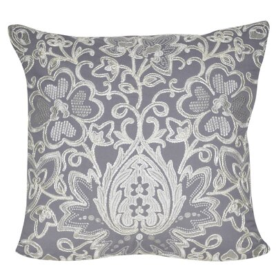 Paisley Flower Throw Pillow Color: Gray