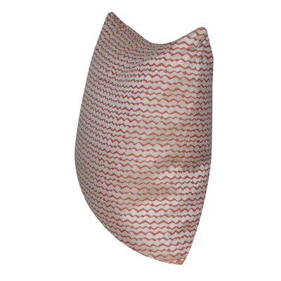 ZigZag Indoor/Outdoor Throw Pillow Color: Coral