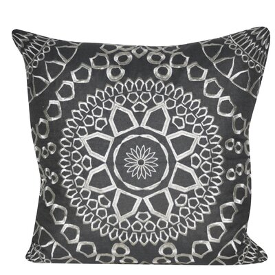Sun Geo Throw Pillow Color: Charcoal