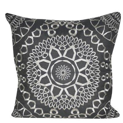 Sun Geo Throw Pillow Color: Charcoal