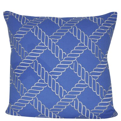 Ropes Throw Pillow Color: Blue