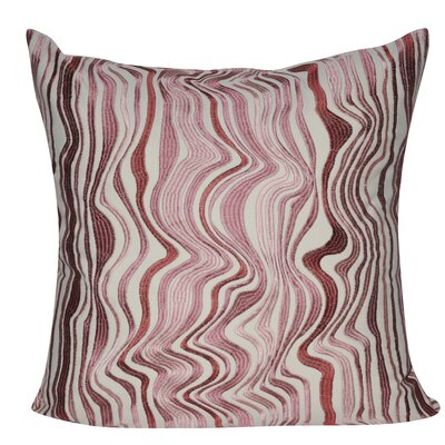 Marble Throw Pillow Color: Pink