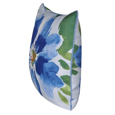 Super Flower Throw Pillow Color: Blue