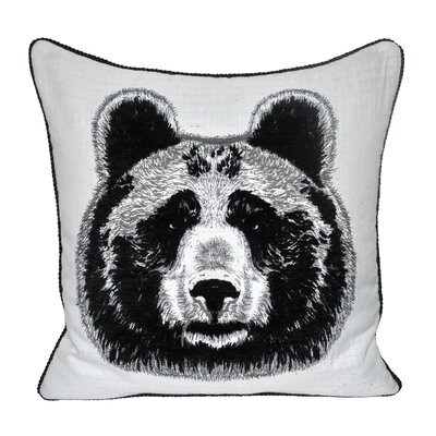 Animal Heads Bear Throw Pillow Color: Black