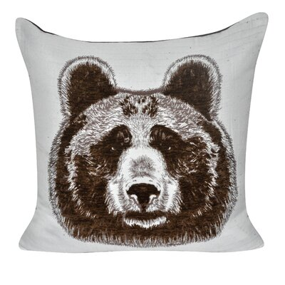 Animal Heads Bear Throw Pillow Color: Brown