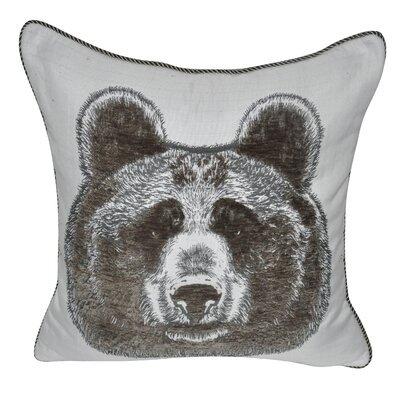 Animal Heads Bear Throw Pillow Color: Olive