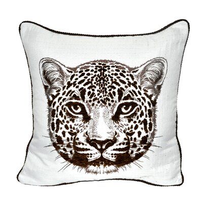 Animal Heads Cheetah Throw Pillow Color: Brown