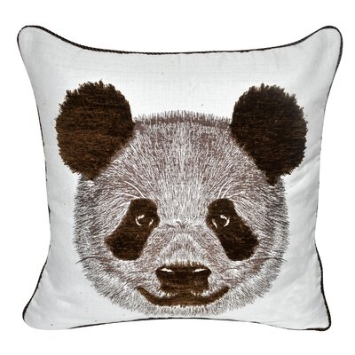 Animal Heads Panda Throw Pillow Color: Brown