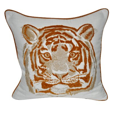 Animal Heads Tiger Throw Pillow Color: Orange