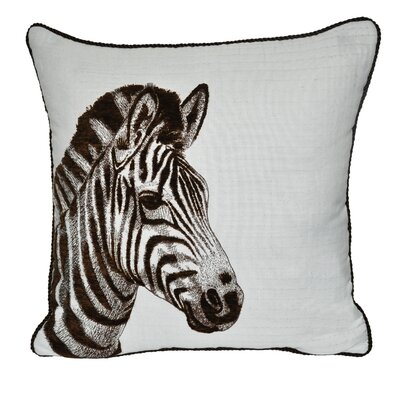 Animal Heads Zebra Throw Pillow Color: Brown