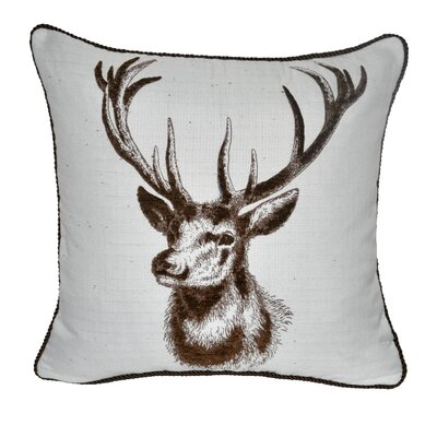 Animal Heads Stag Throw Pillow Color: Brown