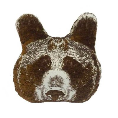 Animal Heads Bear Head Throw Pillow Color: Brown