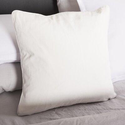 Solid Decorative Throw Pillow Color: White
