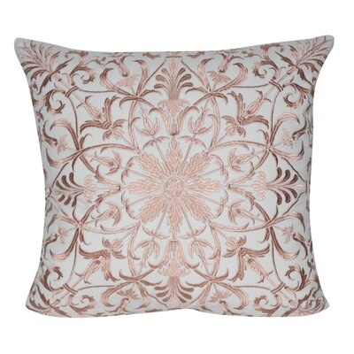 Baroque Floral Throw Pillow Color: Brown