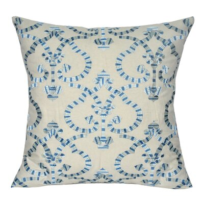 Delhi Throw Pillow Color: Blue