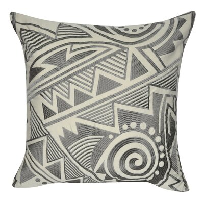 Twisted Southwest Throw Pillow Color: Dark Gray