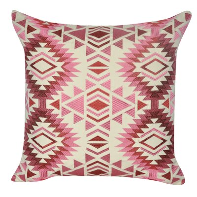 Savannah Throw Pillow Color: Red