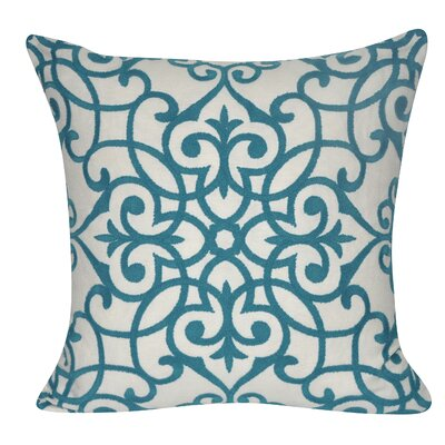 Chelsea Throw Pillow Color: Turquoise