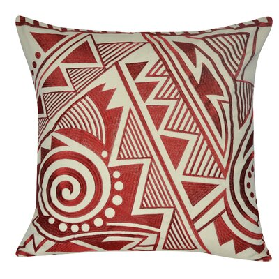 Twisted Southwest Throw Pillow Color: Light Red