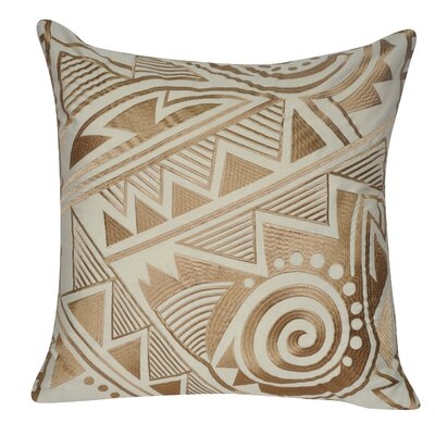 Twisted Southwest Throw Pillow Color: Khaki