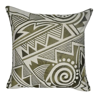 Twisted Southwest Throw Pillow Color: Dark Green