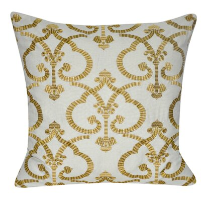 Delhi Throw Pillow Color: Gold