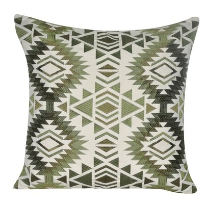 Savannah Throw Pillow Color: Green