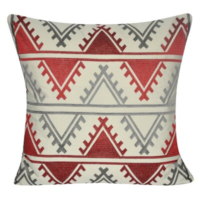 Tucson Throw Pillow Color: Red