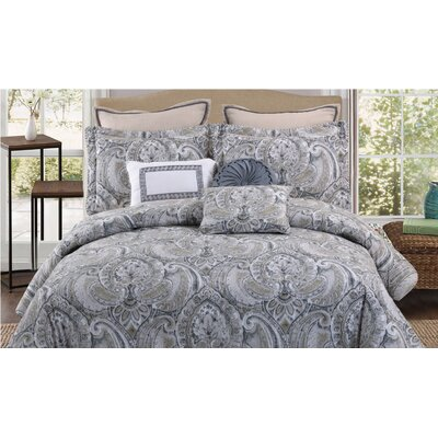 Cosette 7 Piece Comforter Set Size: Queen