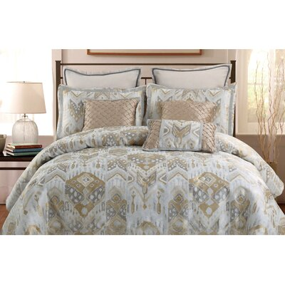 Sienna 7 Piece Comforter Set Size: King