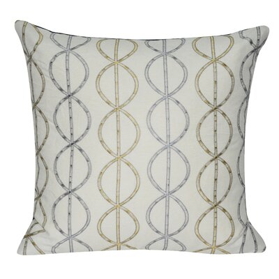 Chain Link Cotton Throw Pillow Color: Dark Blue
