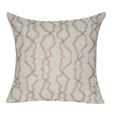 Twisted Polygon Cotton Throw Pillow Color: Purple