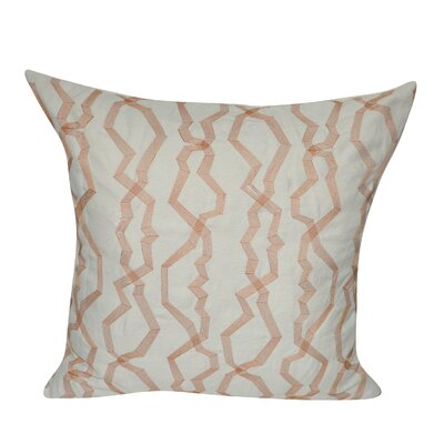 Twisted Polygon Cotton Throw Pillow Color: Orange