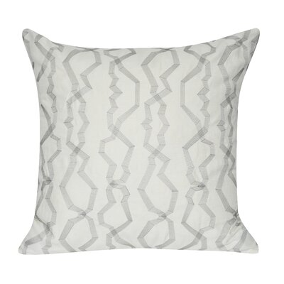 Twisted Polygon Cotton Throw Pillow Color: Gray