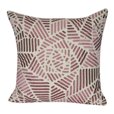 Gometric Rose Cotton Throw Pillow Color: Pink