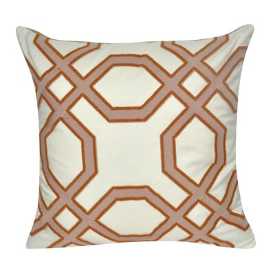 Gometric Center Cotton Throw Pillow Color: Tan