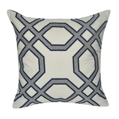 Gometric Center Cotton Throw Pillow Color: Blue