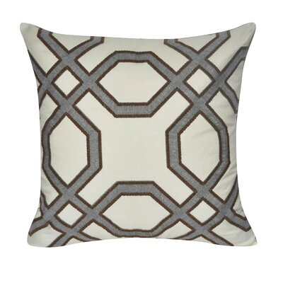 Gometric Center Cotton Throw Pillow Color: Gray