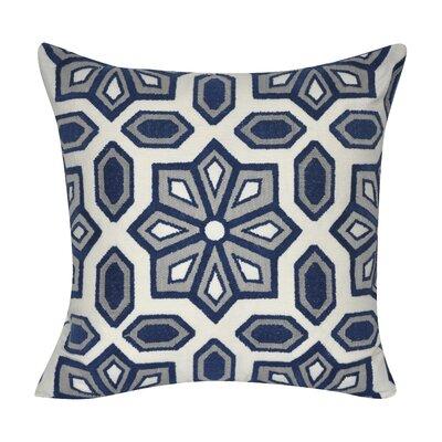 Gardens Cotton Throw Pillow Color: Dark Blue
