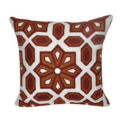 Gardens Cotton Throw Pillow Color: Dark Red