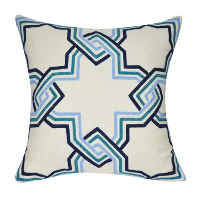 Star Line Cotton Throw Pillow Color: Brown