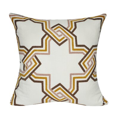 Star Line Cotton Throw Pillow Color: Red