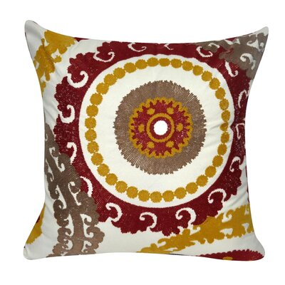 Providence Cotton Throw Pillow Color: Dark Red