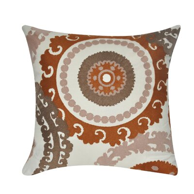 Providence Cotton Throw Pillow Color: Brown